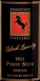 桥景黑骏马黑皮诺干红葡萄酒(Bridgeview Winery Black Beauty Pinot Noir,Oregon,USA)