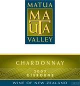 马腾山谷霞多丽干白葡萄酒(Matua Valley Chardonnay,Gisborne,New Zealand)