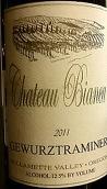 比安卡酒庄琼瑶浆干白葡萄酒(Chateau Bianca Gewurztraminer,Willamette Valley,USA)