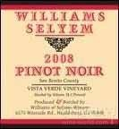 威廉斯乐姆酒庄中级园黑皮诺干红葡萄酒(Williams Selyem Estate Vineyard Vista Verde Vineyard Pinot Noir, San Benito County, USA)