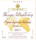 施蒂格勒依瑞恩温克乐堡长相思迟摘干白葡萄酒(Weingut Stigler Ihringen Winklerberg Sauvignon blanc Spatlese trocken, Baden, Germany)