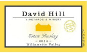 戴维山雷司令干白葡萄酒(David Hill Winery Estate Riesling, Willamette Valley, USA)