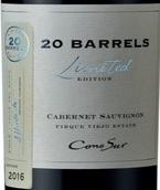 柯诺苏20桶限量版赤霞珠红葡萄酒(Cono Sur 20 Barrels Limited Edition Cabernet Sauvignon, Maipo Valley, Chile)