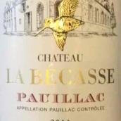 贝卡斯酒庄干红葡萄酒(Chateau La Becasse,Pauillac,France)