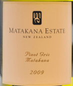 马塔卡纳酒庄灰皮诺干红葡萄酒(Matakana Estate Pinot Gris, Auckland, New Zealand)