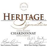 赫里蒂奇庄园珍藏霞多丽干白葡萄酒(Heritage Vineyards Estate Reserve Chardonnay, New Jersey, USA)