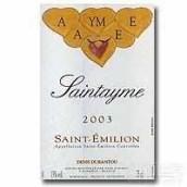 圣泰美干红葡萄酒(Saintayme, Saint-Emilion, France)