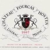 福卡浩丹酒庄干红葡萄酒(Chateau Fourcas Hosten,Listrac-Medoc,France)