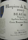 Hospices de Beaune Beaune Premier Cru Cuvee Rousseau Deslandes, Cote de Beaune, France