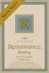 复兴特选晚收雷司令甜白葡萄酒(Renaissance Special Select Late Harvest Riesling,North Yuba,...)