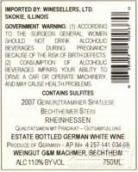 G&M马奇默本奇瑟默斯坦晚采收琼瑶浆甜白葡萄酒(G&M Machmer Bechtheimer Stein Gewurztraminer Spatlese,...)