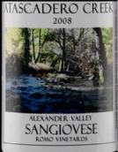 阿塔斯卡德罗溪罗摩庄园桑娇维塞干红葡萄酒(Atascadero Creek Romo Vineyards Sangiovese,Sonoma County,USA)
