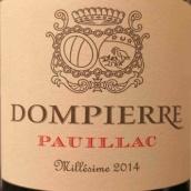 东皮耶尔城堡干红葡萄酒(Chateau Dompierre,Pauillac,France)
