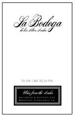 门多萨安第斯霞多丽白葡萄酒(Mendoza Vineyards la Bodega de Los Altos Andes Chardonnay,...)