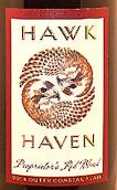 鹰港酒庄业主混合干红葡萄酒(Hawk Haven Proprietor's Red Blend,New Jersey,USA)