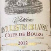 朗萨酒庄干红葡萄酒(Chateau Les Tuileries de Lansac,Cotes de Bourg,France)