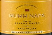 玛姆纳帕德沃牧场起泡酒(Mumm Napa Devaux Ranch, Napa Valley, USA)