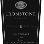 铁石老藤珍藏仙粉黛干红葡萄酒(Ironstone Vineyards Old Vine Reserve Zinfandel,Lodi,USA)