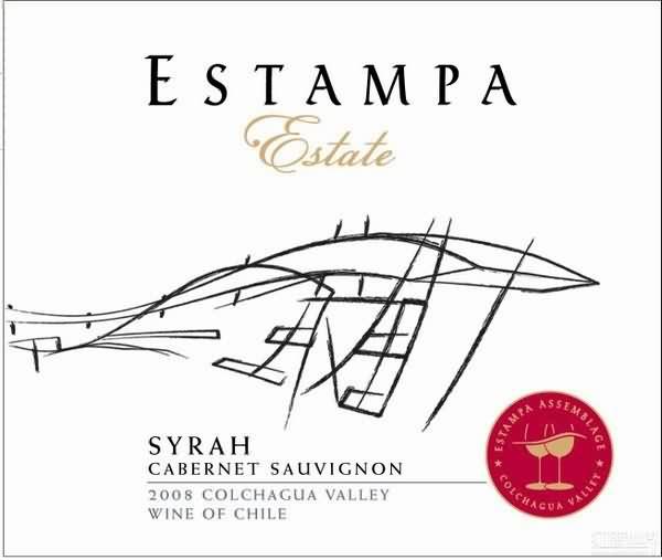 画片庄园西拉赤霞珠干红葡萄酒(Estampa Estate Syrah Cabernet Sauvignon, Colchagua Valley, Chile)