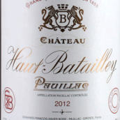 奥巴特利酒庄红葡萄酒(Chateau Haut-Batailley,Pauillac,France)