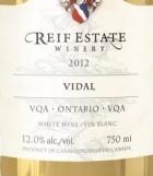 瑞芙威代尔干白葡萄酒(Reif Estate Winery Vidal, Niagara River, Canada)