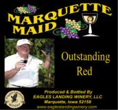 鹰陆马奎特少女优质干红葡萄酒(Eagles Landing Winery Marquette Maid Outstanding Red, Iwoa, USA)