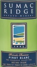 苏马克里奇珍藏白皮诺干白葡萄酒(Sumac Ridge Estate Private Reserve Pinot Blanc,Okanagan ...)