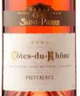 圣皮耶罗纳河谷丘首选桃红葡萄酒(Caves Saint-Pierre Preference Rose,Cotes du Rhone,France)