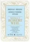 罗伯特威尔雷司令迟摘白葡萄酒(Weingut Robert Weil Riesling Spatlese Trocken, Rheingau, Germany)