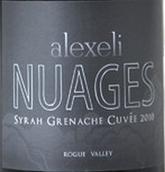 亚历克斯艾利云彩西拉-歌海娜混酿干红葡萄酒(Alexeli Vineyard&Winery Nuages Syrah Grenache Cuvee,Oregon,...)