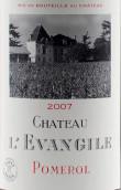 乐王吉酒庄红葡萄酒(Chateau L'Evangile, Pomerol, France)