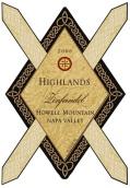 高地豪威尔山仙粉黛干红葡萄酒(Highlands Winery Howell Mountain Zinfandel,Napa Valley,USA)