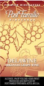 波斯特家族德拉半甜型桃红葡萄酒(Post Familie Vineyards Delawine,Altus,USA)