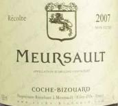 科榭-比佐拉(默尔索村)干白葡萄酒(Domaine Coche-Bizouard Meursault,Cote de Beaune,France)