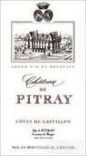 德皮特雷酒庄干红葡萄酒(Chateau Pitray,Cotes de Castillon,France)