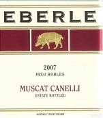 埃贝尔酒庄装瓶白麝香甜白葡萄酒(Eberle Estate Muscat Canelli, Paso Robles, USA)