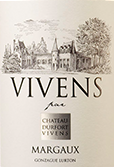 杜霍酒庄副牌干红葡萄酒(Vivens de Chateau Durfort-Vivens,Margaux,France)