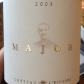 艾斯卡特马若尔干红葡萄酒(Chateau L'Escadre Major,Entre-deux-Mers,France)