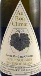奥邦灰皮诺-白皮诺混酿干白葡萄酒(Au Bon Climat Pinot Gris-Blanc,Santa Barbara County,USA)