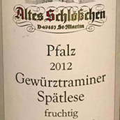 阿尔特斯琼瑶浆迟摘葡萄酒(Altes Schlobchen Spatlese Gewurztraminer Pfalz,Germany)