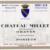 米烨酒庄红葡萄酒(Chateau Millet,Graves,France)