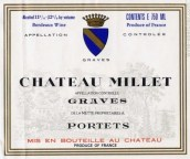 米烨酒庄红葡萄酒(Chateau Millet,Graves,France)