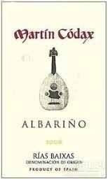 马丁歌达仕阿尔巴利诺干白葡萄酒(Bodegas Martin Codax Albarino,Rias Baixas,Spain)