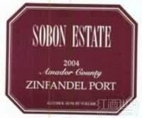 颂博仙粉黛波特酒(Sobon Estate Zinfandel Port,Amador County,USA)