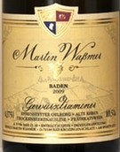 马丁沃斯曼酒庄琼瑶浆老藤枯萄葡萄干精选甜白葡萄酒(Weingut Martin Wassmer Ehrenstetter Olberg Alte Reben Gewurztraminer Trockenbeerenauslese, Baden, Germany)