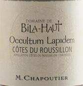莎普蒂尔上比拉园奥拉彼丹干红葡萄酒(M. Chapoutier Domaine de Bila-Haut Occultum Lapidem, Cotes du Roussillon Villages, France)