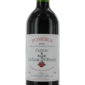 十字圣文森特酒庄干红葡萄酒(Chateau la Croix Saint Vincent,Pomerol,France)