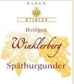 施蒂格勒依瑞恩温克乐堡黑皮诺迟摘干红葡萄酒(Weingut Stigler Ihringen Winklerberg Spatburgunder Spatlese trocken, Baden, Germany)