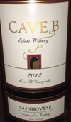 洞穴桑娇维塞干红葡萄酒(Cave B Estate Winery Sangiovese,Columbia Valley,USA)