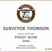 汤姆森单一园黑皮诺干红葡萄酒(Surveyor Thomson Wines Single Vineyard Pinot Noir,Central ...)